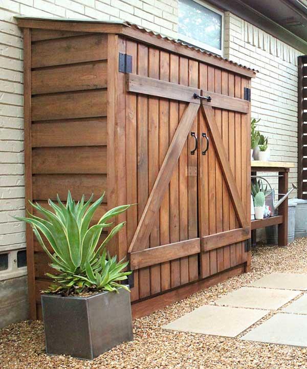 DIY λύσεις αποθηκευτικού χώρου για την αυλή και τον κήπο σας13