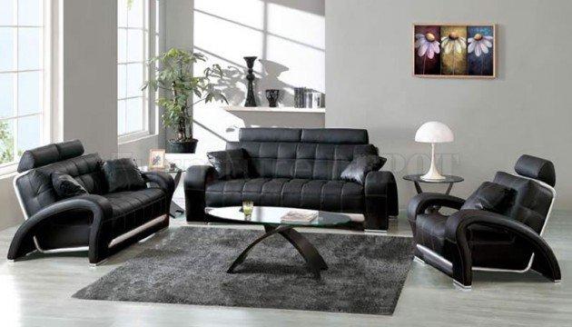 Ιδέες Σχεδιασμού  Σαλονιού  σε Άσπρο & Μαύρο7