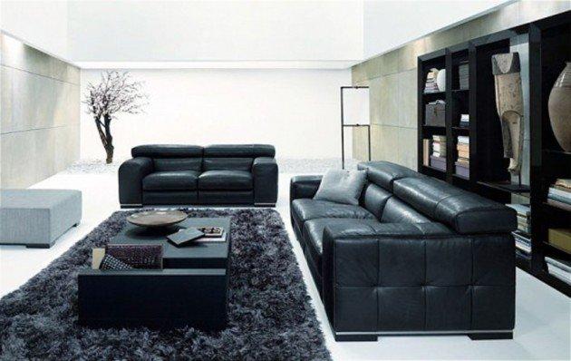 Ιδέες Σχεδιασμού  Σαλονιού  σε Άσπρο & Μαύρο8