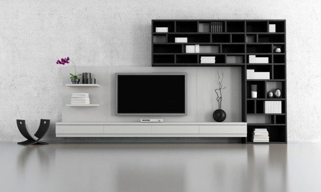 Ιδέες Σχεδιασμού  Σαλονιού  σε Άσπρο & Μαύρο9