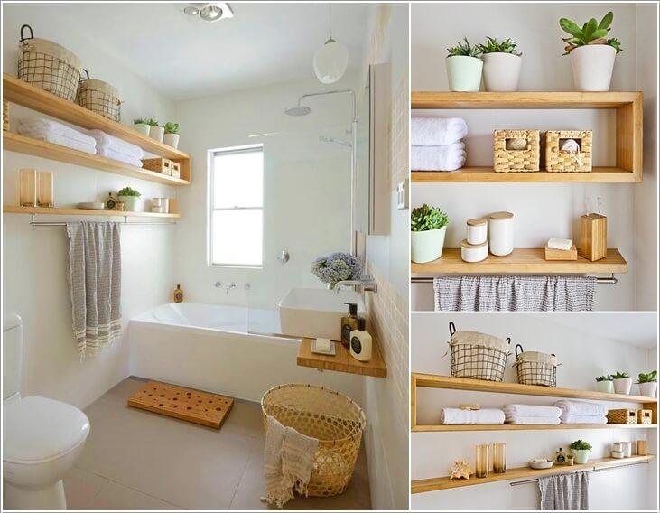 Ιδέες για να δημιουργήστε χώρο αποθήκευσης στον τοίχο του μπάνιου σας1