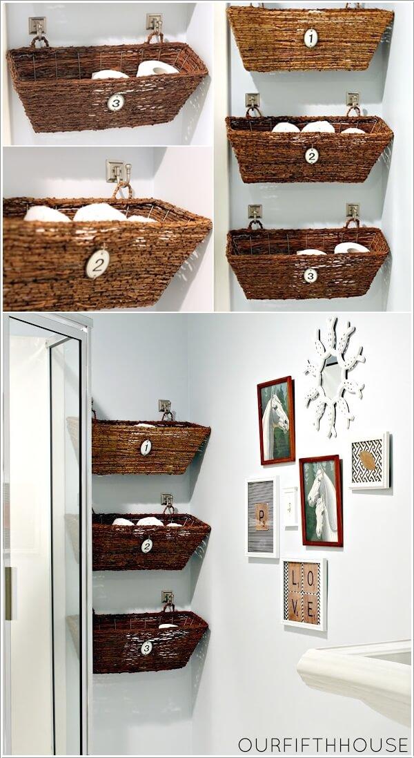Ιδέες για να δημιουργήστε χώρο αποθήκευσης στον τοίχο του μπάνιου σας3