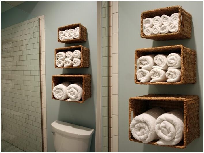 Ιδέες για να δημιουργήστε χώρο αποθήκευσης στον τοίχο του μπάνιου σας7