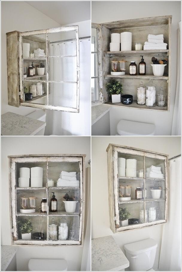 Ιδέες για να δημιουργήστε χώρο αποθήκευσης στον τοίχο του μπάνιου σας9