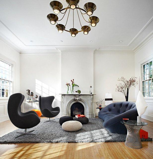 Πλεκτά πουφ - μοναδική ατμόσφαιρα για ένα ζεστό σπίτι