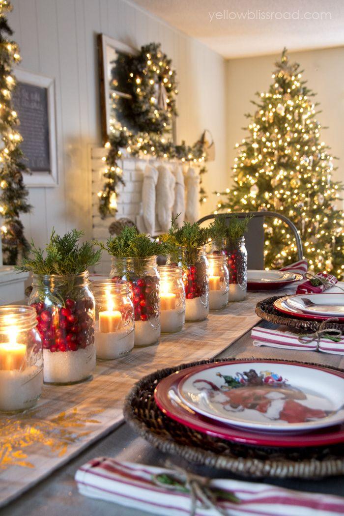 διακοσμήσεις Χριστουγεννιάτικων τραπεζιών12