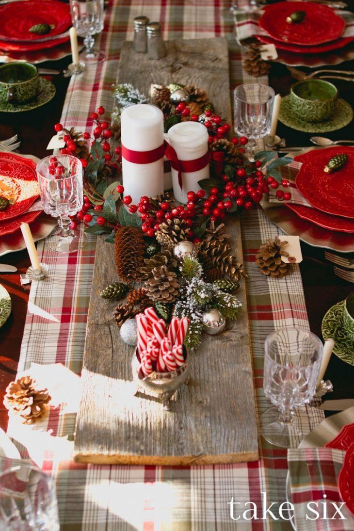 διακοσμήσεις Χριστουγεννιάτικων τραπεζιών17