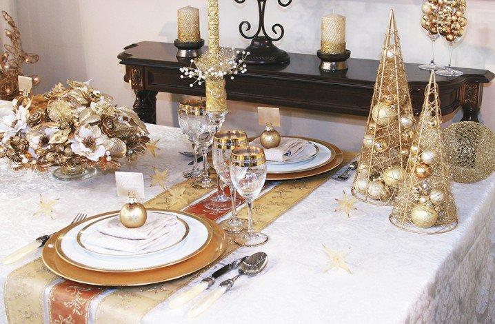 διακοσμήσεις Χριστουγεννιάτικων τραπεζιών2