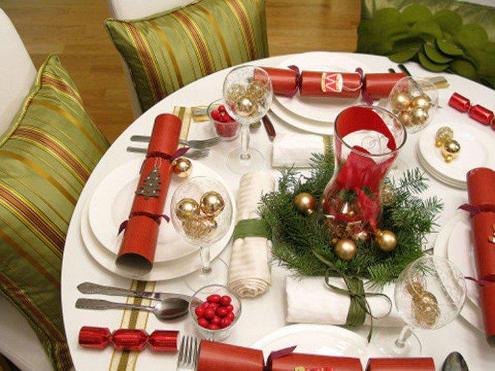 διακοσμήσεις Χριστουγεννιάτικων τραπεζιών8