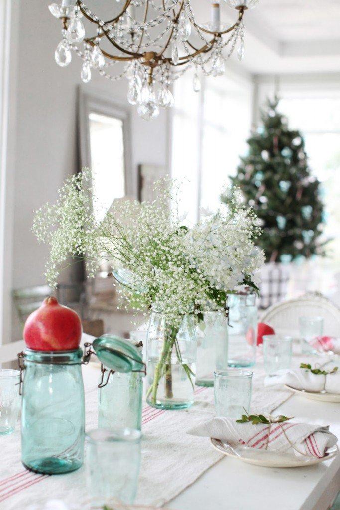 διακοσμήσεις Χριστουγεννιάτικων τραπεζιών9