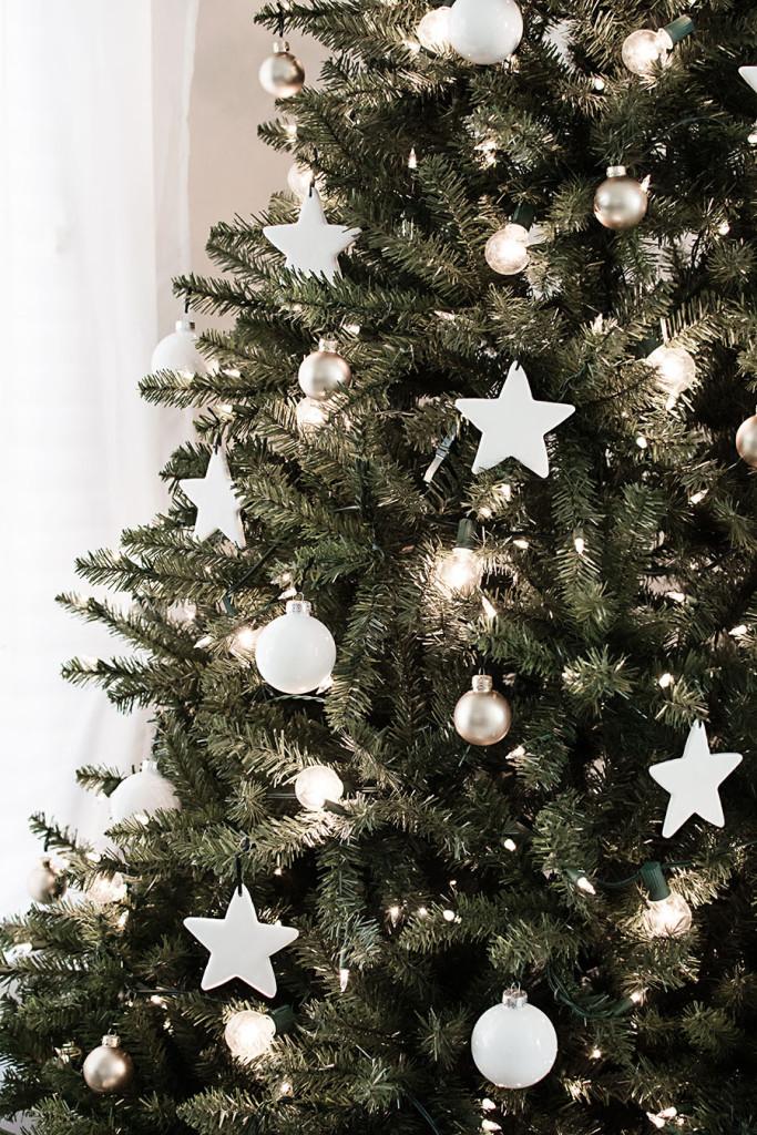 DIY Πήλινα στολίδια αστέρια για το χριστουγεννιάτικο δέντρο