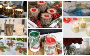 Diy κηροπήγια για τα Χριστούγεννα