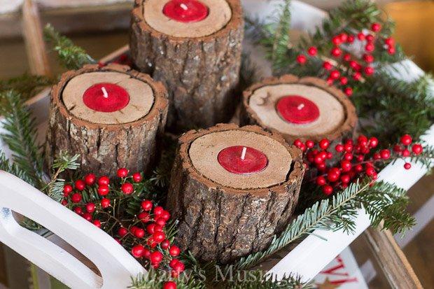 Diy κηροπήγια για τα Χριστούγεννα3