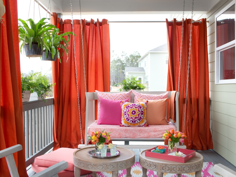 Quick and easy updates brought springtime charm to the covered deck of the 2015 HGTV Spring House.
