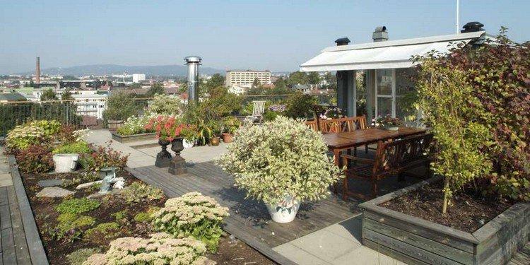 Κήπος στην ταράτσα ιδέες39