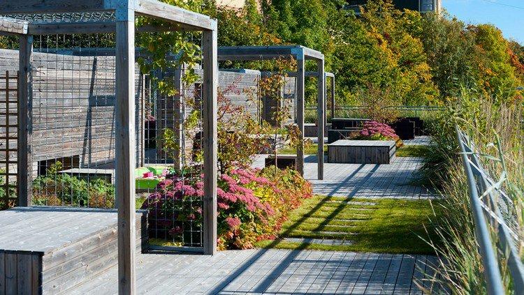 Κήπος στην ταράτσα ιδέες47