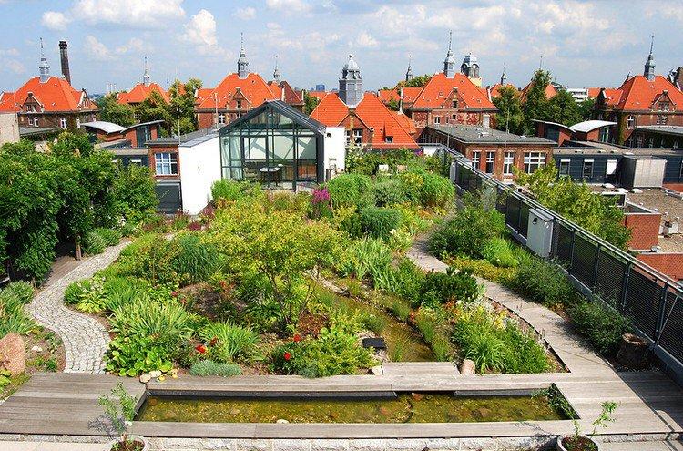 Κήπος στην ταράτσα ιδέες61