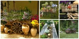 Ρουστίκ διακόσμηση κήπου