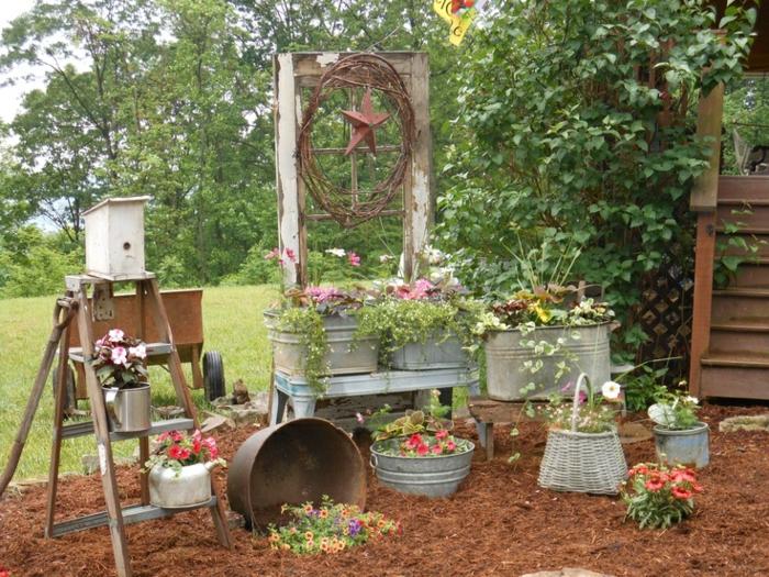 Ρουστίκ διακόσμηση κήπου12