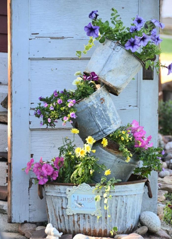 Ρουστίκ διακόσμηση κήπου13
