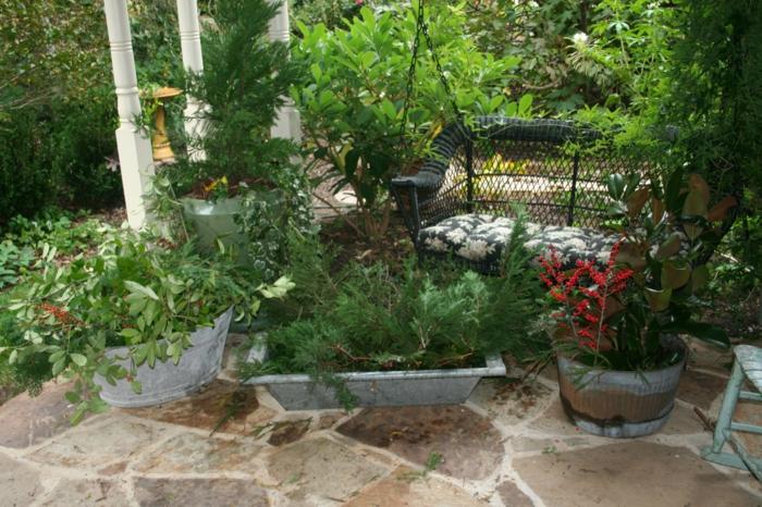 Ρουστίκ διακόσμηση κήπου21