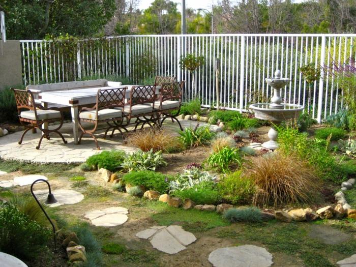 Ρουστίκ διακόσμηση κήπου41