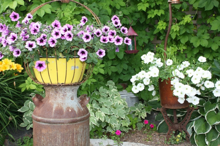 Ρουστίκ διακόσμηση κήπου5