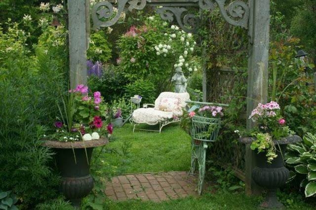 Ρουστίκ διακόσμηση κήπου54