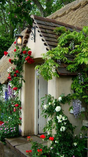 Ρουστίκ διακόσμηση κήπου57