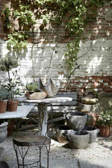 Ρουστίκ διακόσμηση κήπου58