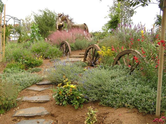 Ρουστίκ διακόσμηση κήπου7