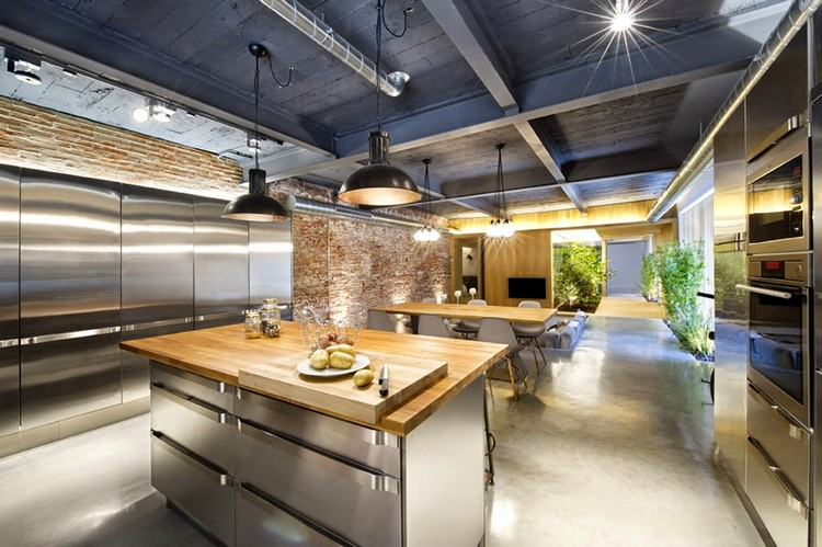 βιομηχανική κουζίνα ιδέες18