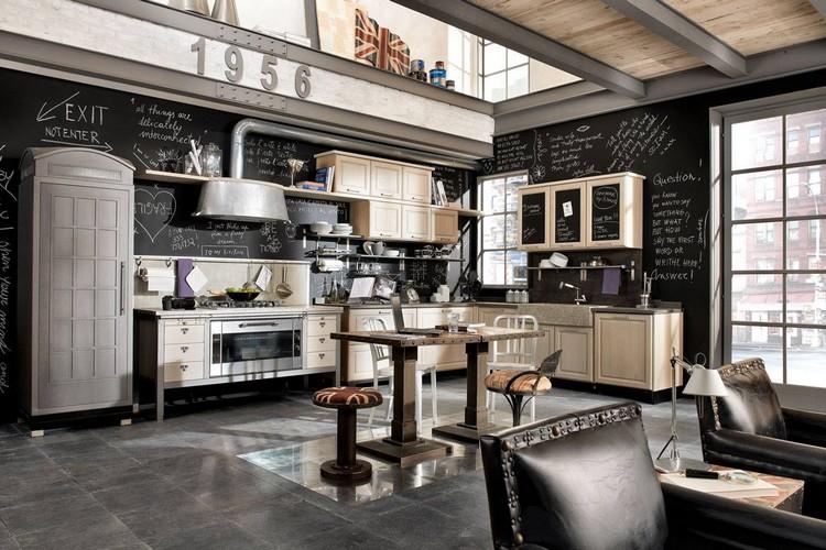 Σύγχρονη βιομηχανική κουζίνα σε 44 τρομερές φωτογραφίες