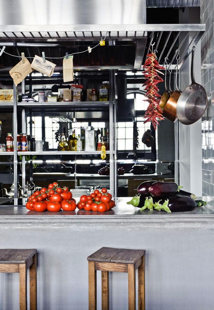 βιομηχανική κουζίνα ιδέες24