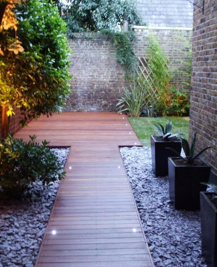 ιδέες με ξύλινα μονοπάτια κήπου19