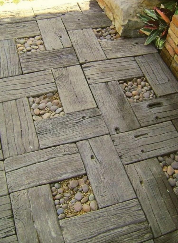 ιδέες με ξύλινα μονοπάτια κήπου20