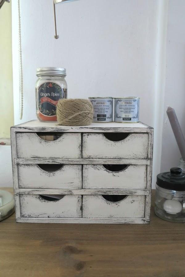 DIY Vintage συρτάρια με τεχνική πατίνας7