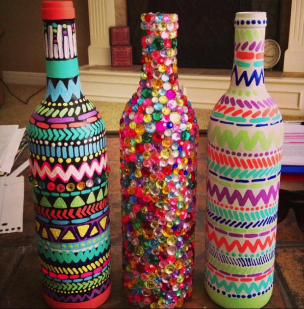 Diy διακόσμηση με μπουκάλια29