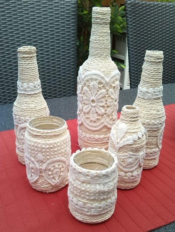 Diy διακόσμηση με μπουκάλια37