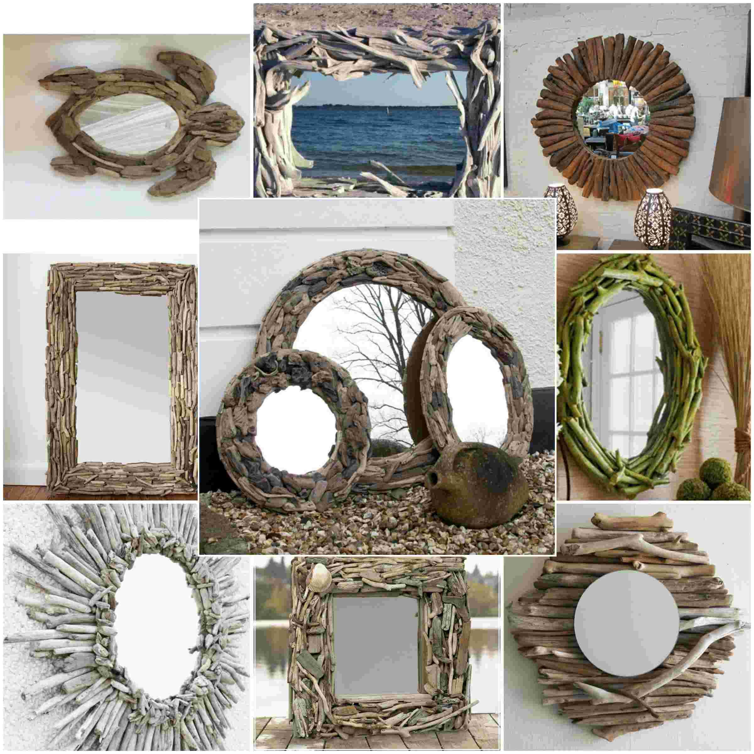 Diy ιδέες καθρέφτη από θαλασσόξυλα (1)