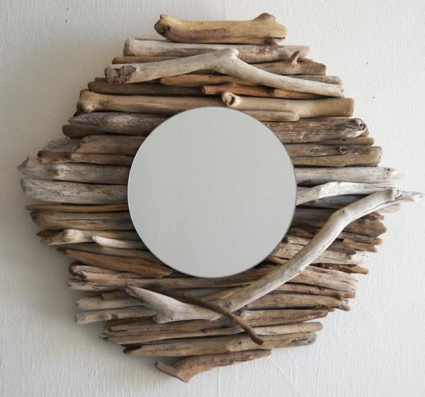 Diy ιδέες καθρέφτη από θαλασσόξυλα (10)