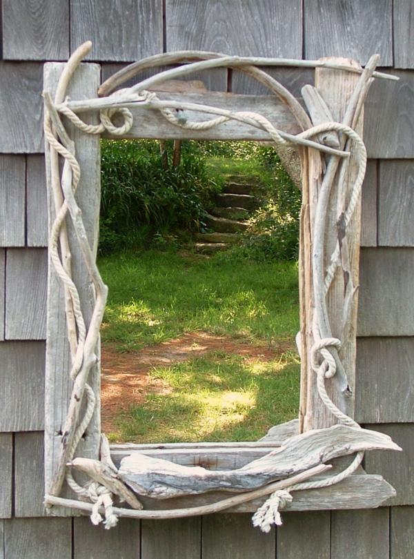 Diy ιδέες καθρέφτη από θαλασσόξυλα (18)