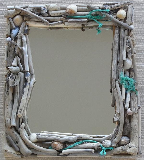 Diy ιδέες καθρέφτη από θαλασσόξυλα (19)