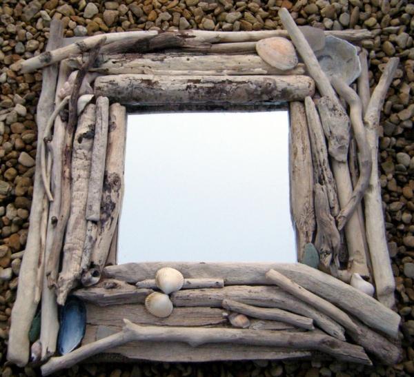Diy ιδέες καθρέφτη από θαλασσόξυλα (2)