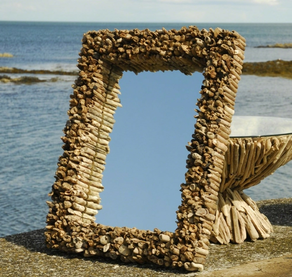 Diy ιδέες καθρέφτη από θαλασσόξυλα (20)