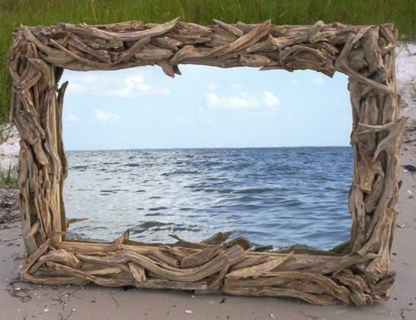 Diy ιδέες καθρέφτη από θαλασσόξυλα (21)