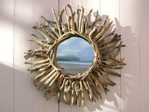 Diy ιδέες καθρέφτη από θαλασσόξυλα (25)
