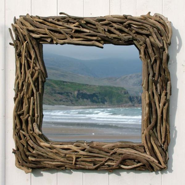 Diy ιδέες καθρέφτη από θαλασσόξυλα (31)