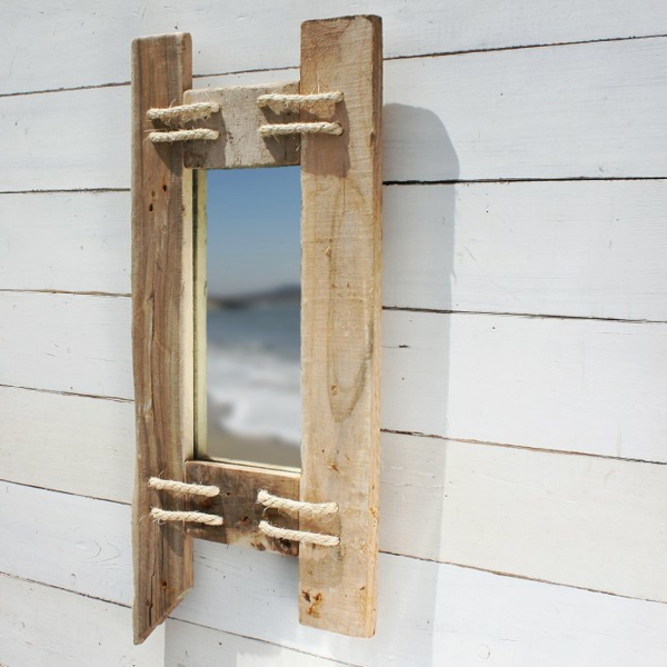 Diy ιδέες καθρέφτη από θαλασσόξυλα (32)