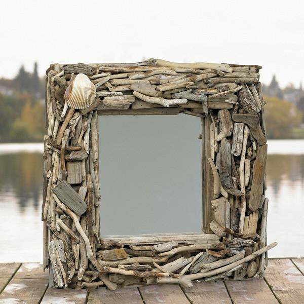Diy ιδέες καθρέφτη από θαλασσόξυλα (6)